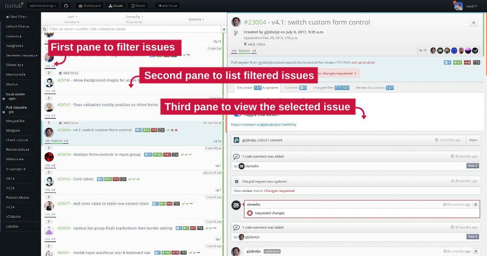 IssHub: The Github and Gitlab Issues Manager - Enhanced code review